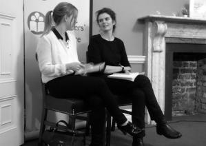 Caoilinn Hughes and Tara Bergin talking