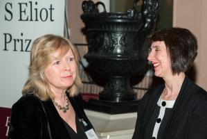 Sinéad Morrissey and Chris Holifield at the T S Eliot Prize Ceremony