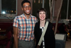 Sinéad Morrissey and Okey Nzelu at the T S Eliot Prize Ceremony