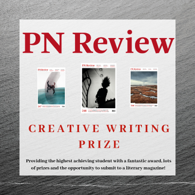 A promotional image for the PN Review prize