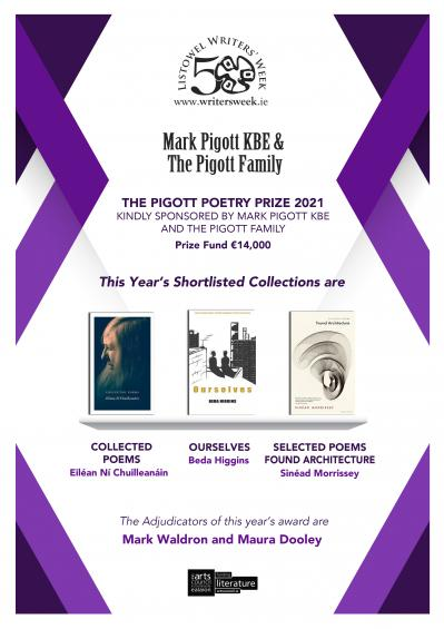Poster for the Pigott Poetry Prize Shortlist